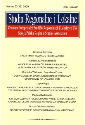 2009 STUDIA REGIONALNE I LOKALNE, nr 2 (36) <br>Uwaga!!! Do kupienia także w PDFie