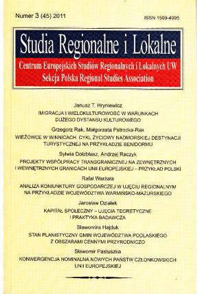 2011 STUDIA REGIONALNE I LOKALNE, nr 3 (45) <br>UWAGA! Do nabycia także w PDFie