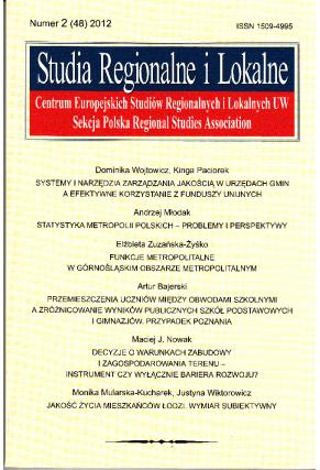 2012 STUDIA REGIONALNE I LOKALNE, nr 2 (48) <br>UWAGA! Do nabycia także w PDFie