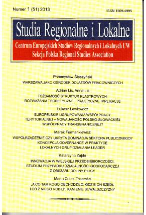 2013 STRUDIA REGIONALNE I LOKALNE, nr 1 (51) <br>Uwaga! Do kupienia także w PDFie