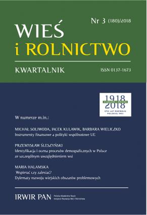 2018 WIEŚ I ROLNICTWO <br>t. 180, nr 3 <br>UWAGA, do kupienia także w PDFie!