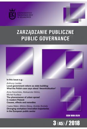 2018 ZARZĄDZANIE PUBLICZNE <br> nr  3 (45) <br>Uwaga! Do kupienia także w PDFie