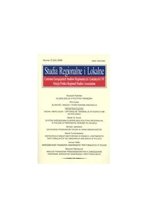2006 STUDIA REGIONALNE I LOKALNE nr 2 (24) <br>UWAGA!!! Do kupienia także w PDFie