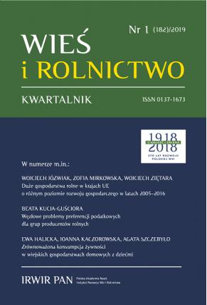 2019 WIEŚ I ROLNICTWO <br>t. 182, nr 1