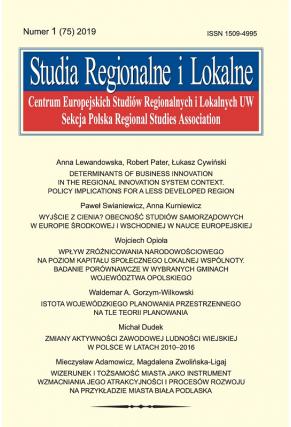 2019 STUDIA REGIONALNE I LOKALNE, NR 1 (75)<br>Uwaga! Do kupienia także w PDFie