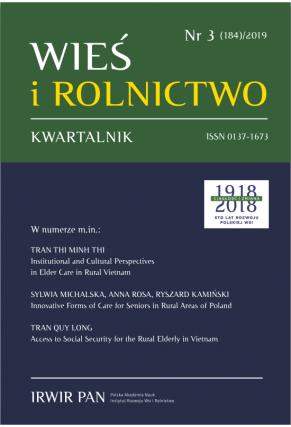 2019 WIEŚ I ROLNICTWO t. 184, nr 3 UWAGA, do kupienia także w PDFie!