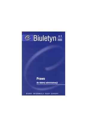 2003 BIULETYN nr 4<br>PRAWO <br>do dobrej administracji