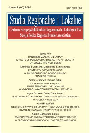 2020 STUDIA REGIONALNE I LOKALNE, NR 1 (79)<br> Uwaga! Do kupienia także w PDFie