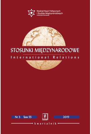 STOSUNKI MIĘDZYNARODOWE 2019 nr 2 t. 55<br> Uwaga! Do kupienia także w PDFie