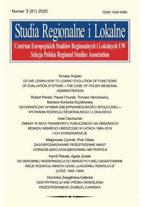 2020 STUDIA REGIONALNE I LOKALNE, NR 3 (80)<br> Uwaga! Do kupienia także w PDFie