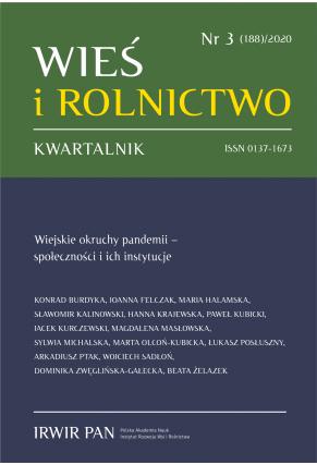 2020 WIEŚ I ROLNICTWO<br> t. 188, nr 3<br> UWAGA, do kupienia także w PDFie!