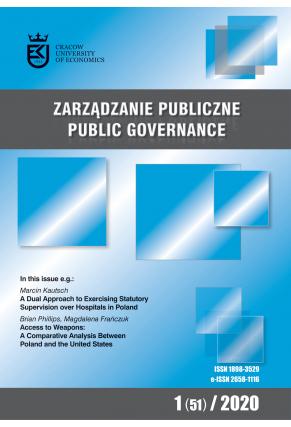 2020 ZARZĄDZANIE PUBLICZNE<br>  nr 1 (51)<br>  Uwaga! Do kupienia także w PDFie