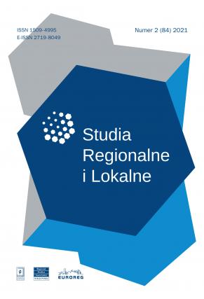 2021 STUDIA REGIONALNE I LOKALNE, NR 1 (83)<br> Uwaga! Do kupienia także w PDFie
