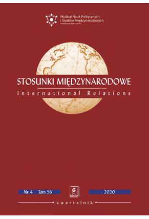 STOSUNKI MIĘDZYNARODOWE<br> 2020 nr 4 t. 56<br> PDF w wolnym dostępie.