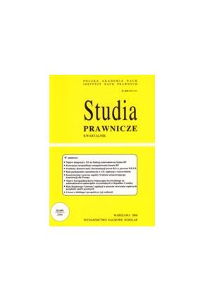 2006 STUDIA PRAWNICZE nr 3 <br>UWAGA!!! Do kupienia WYŁĄCZNIE w PDFie