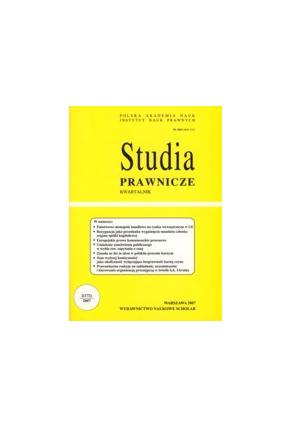 2007 STUDIA PRAWNICZE nr 2 <br>UWAGA!!! Do kupienia WYŁĄCZNIE w PDFie