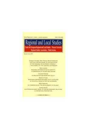 2007 REGIONAL AND LOCAL STUDIES <br>special issue <br>UWAGA!!! Do kupienia także w PDFie <br>Numer specjalny, wydany w języku angielskim